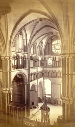 The South Transept, Shewing The Double Triforium And Clerestory, AD 1178